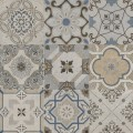 SAVANNAH Grey Patchwork Mat 60x60 G.1